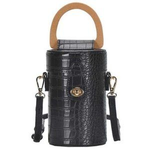 3 Colors Options! Cylindrical Crossbody Bag